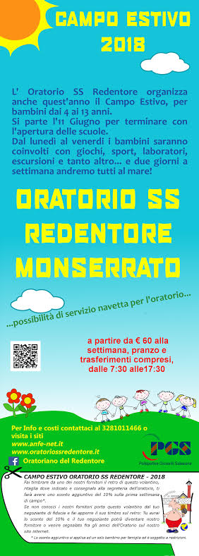 Campo estivo oratorio SS Redentore Monserrato